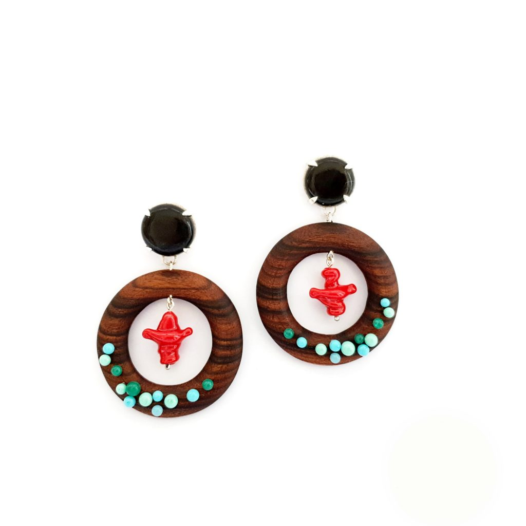 earrings-wood-redcoral-green-2